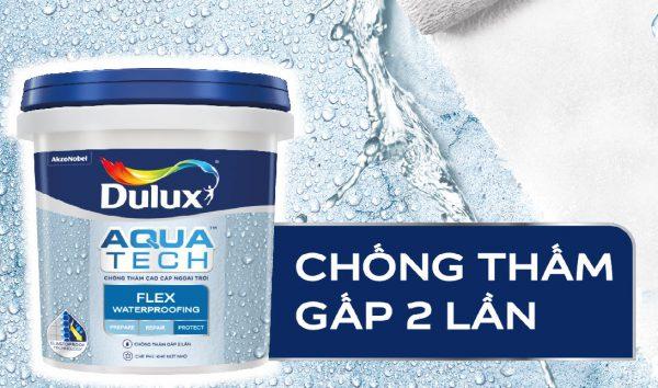 Sơn Dulux Aquatech Flex chống thấm gấp 2 lần