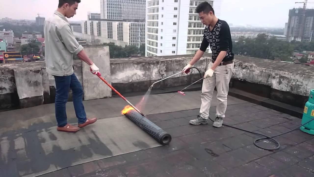 Thi công dán màng chống thấm khò nóng