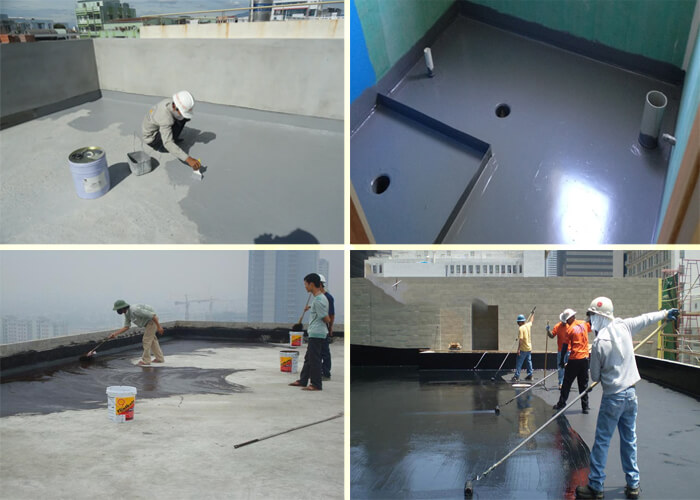 Định mức để quét lớp vật liệu chống thấm Flinkote cực kỳ quan trong đối với công trình và cần đảm bảo các yêu cầu về kỹ thuật